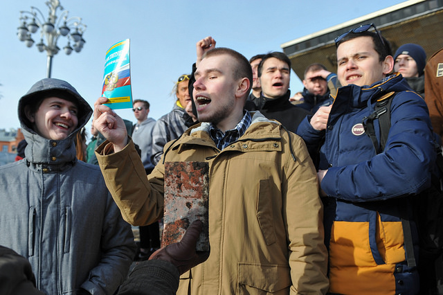 RUSSIAN YOUTH REVOLT AGAINST KREMLIN