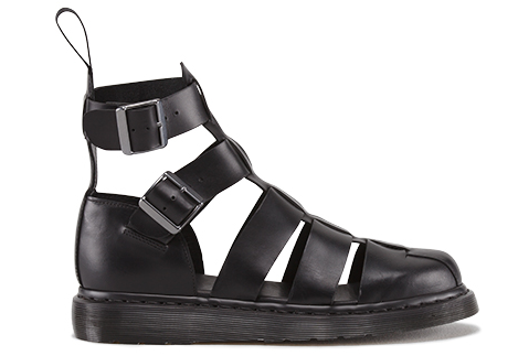SHOES FOR PEOPLE WHO DONT LIKE FEET DR MARTENS SANDALS BLACK LEATHER