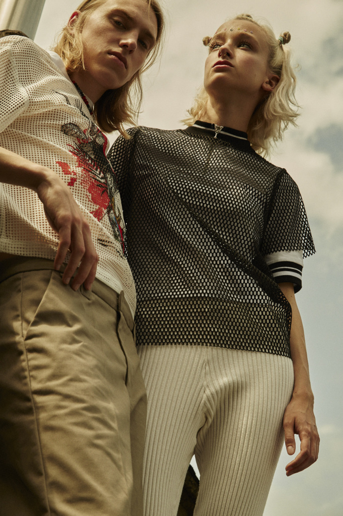 FRIEDA: SHIRT- MONKI MESH SHIRT- MISSGUIDED TROUSERS- WEEKDAY JULIUS SHIRT- CLOVER CANYON TROUSERS- DICKIES NECKLACE- VINTAGE