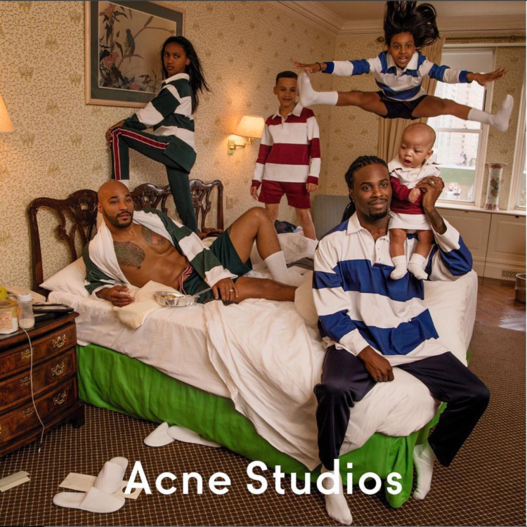 Acne Studios features a black LGBT family