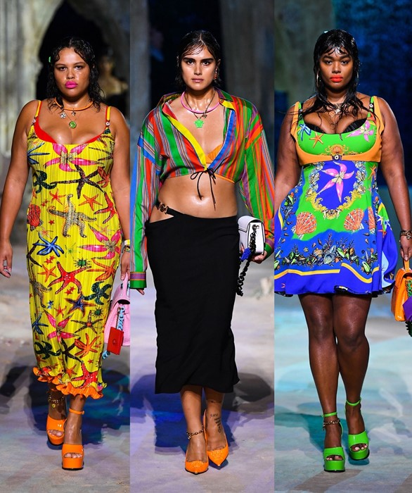 Versace made fashion history in 2020 when featuring plus-sized models in its SS21 show